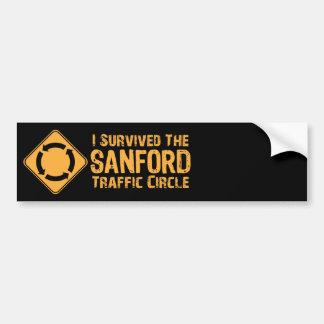 Sobreviví el círculo de tráfico de Sanford Etiqueta De Parachoque