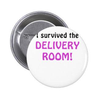 Sobreviví el cuarto de entrega pin redondo de 2 pulgadas