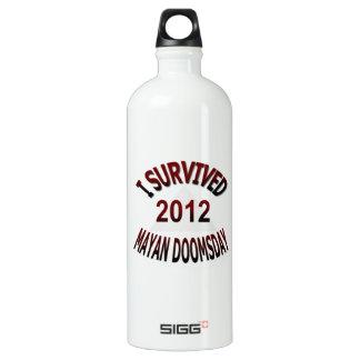 Sobreviví el día del juicio final maya 2012 botella de agua