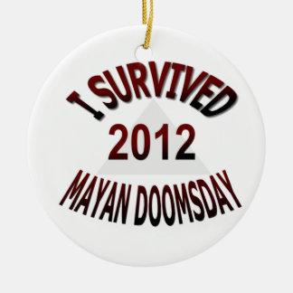 Sobreviví el día del juicio final maya 2012 adorno para reyes