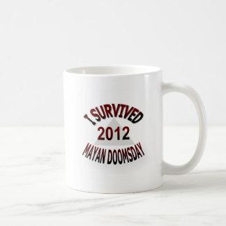 Sobreviví el día del juicio final maya 2012 taza de café