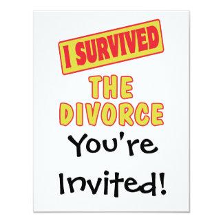 """SOBREVIVÍ EL DIVORCIO INVITACIÓN 4.25"""" X 5.5"""""""