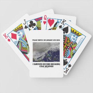 Sobreviví el expediente que rompía el tiempo frío baraja de cartas