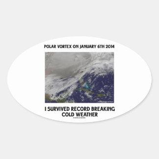 Sobreviví el expediente que rompía el tiempo frío pegatina ovalada