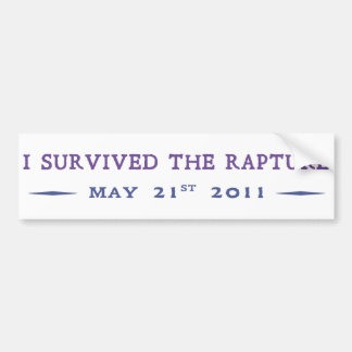 Sobreviví el éxtasis etiqueta de parachoque