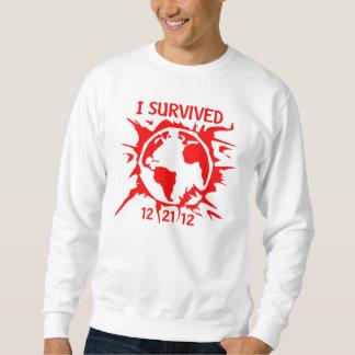 """""""Sobreviví"""" el extremo 12-21-12 de la camiseta del Suéter"""