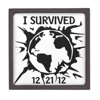 Sobreviví el extremo 12-21-12 del mundo caja de joyas de calidad