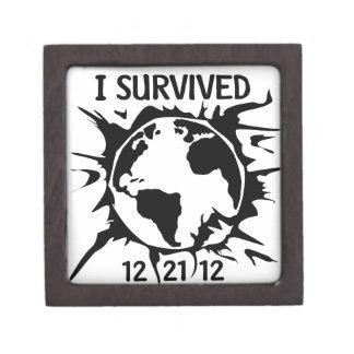Sobreviví el extremo 12-21-12 del mundo caja de regalo de calidad