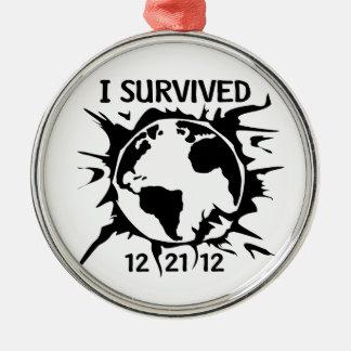 Sobreviví el extremo 12-21-12 del mundo ornamentos de reyes