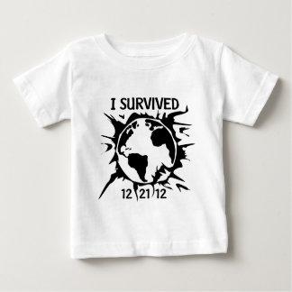 """""""Sobreviví"""" el extremo 12-21-12 del mundo T-shirt"""