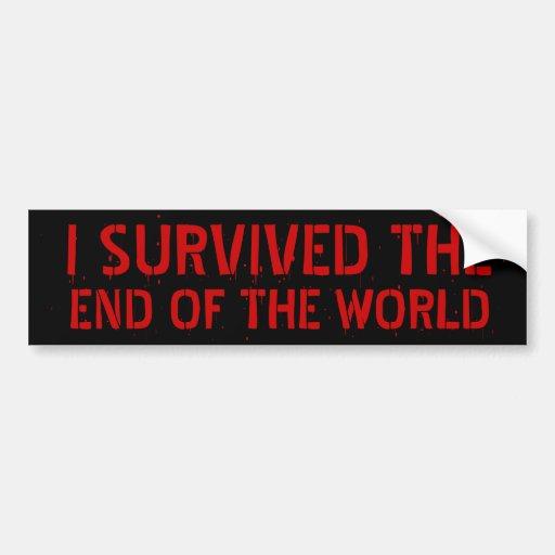 Sobreviví el extremo de la pegatina para el parach pegatina de parachoque