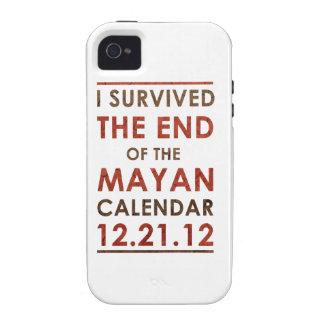 Sobreviví el extremo del calendario maya 12 21 12 iPhone 4 carcasa