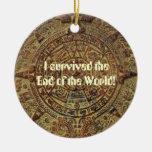 Sobreviví el extremo del calendario maya del mundo adornos de navidad