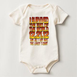 Sobreviví el extremo del mundo - 12-21-12 - traje de bebé