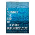 Sobreviví el extremo del mundo felicitación