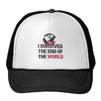 Sobreviví el extremo del mundo gorras de camionero