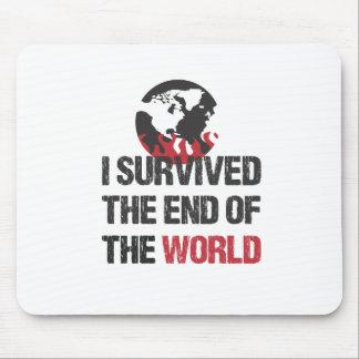 Sobreviví el extremo del mundo alfombrillas de ratones