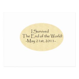 ¡Sobreviví el extremo del mundo! Tarjeta Postal