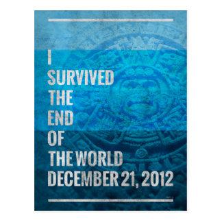 Sobreviví el extremo del mundo tarjetas postales
