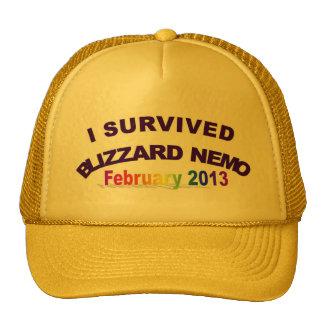 Sobreviví el gorra 2013 de la ventisca NEMO
