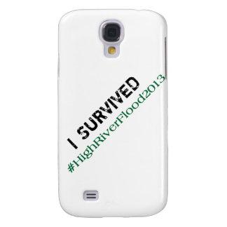 Sobreviví el #HighRiverFlood 2013 Funda Para Galaxy S4