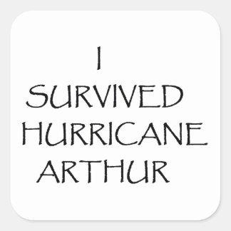 Sobreviví el huracán Arturo Pegatina Cuadrada