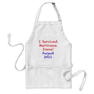 Sobreviví el huracán Irene Delantal