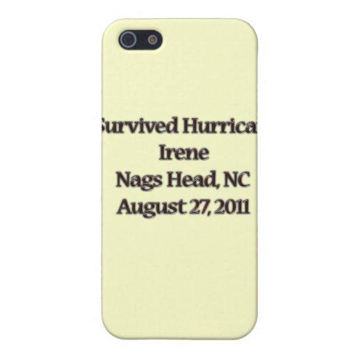 Sobreviví el huracán Irene NC iPhone 5 Fundas