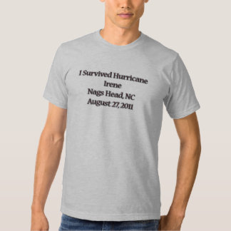 Sobreviví el huracán Irene NC Playera