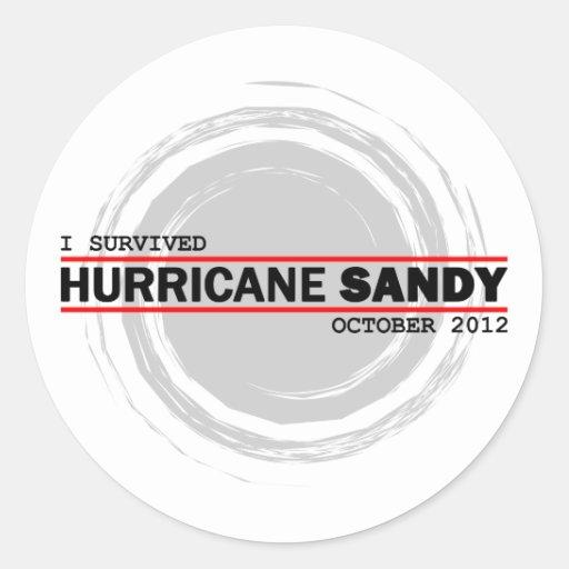 Sobreviví el huracán Sandy Pegatinas Redondas