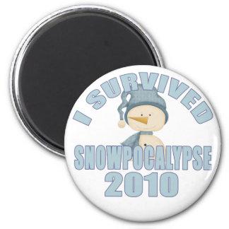 Sobreviví el imán 2010 de Snowpocalypse