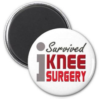 Sobreviví el imán de la cirugía de la rodilla