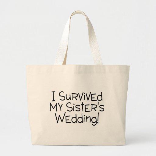 Sobreviví el negro del boda de mi hermana bolsas de mano