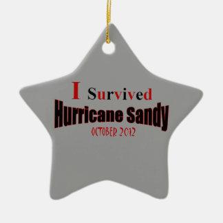 Sobreviví el ornamento de la estrella de Sandy del Adorno Navideño De Cerámica En Forma De Estrella