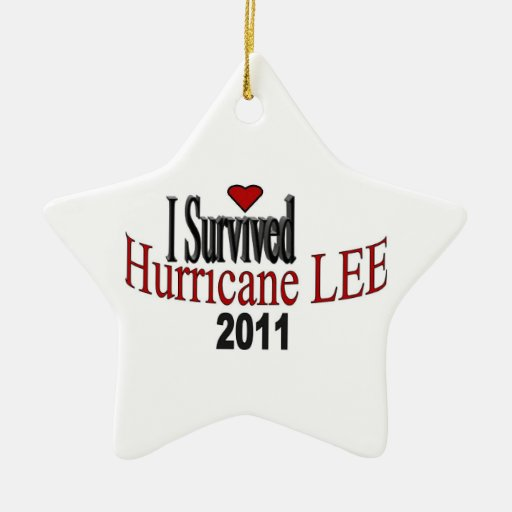 Sobreviví el ornamento de Lee del huracán Ornato