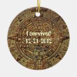 Sobreviví el ornamento maya del calendario 12-21-2 ornamento para reyes magos