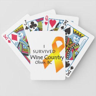 Sobreviví el país vinícola Oliverio A C naipes Baraja De Cartas