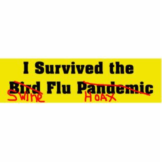 Sobreviví el pandémico/a la broma de la gripe del  fotoescultura vertical