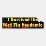 Sobreviví el pandémico de la gripe aviar etiqueta de parachoque