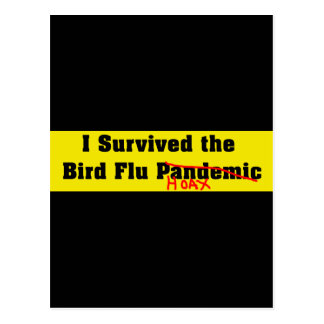 Sobreviví el pandémico de la gripe aviar postal