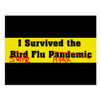 Sobreviví el pandémico de la gripe aviar postales
