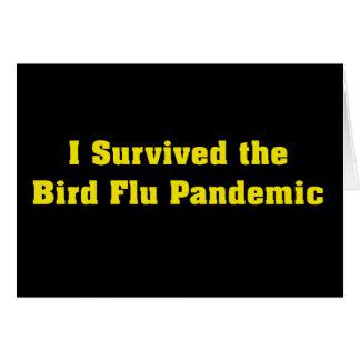 Sobreviví el pandémico de la gripe aviar tarjetón