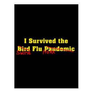 Sobreviví el pandémico de la gripe aviar tarjeta postal