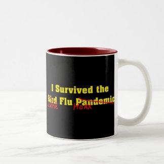 Sobreviví el pandémico de la gripe aviar taza de dos tonos
