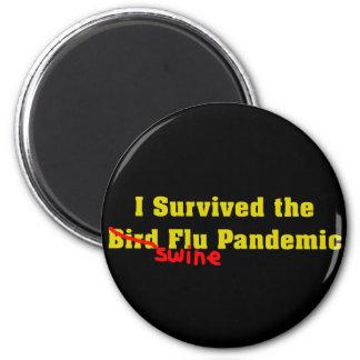 Sobreviví el pandémico de la gripe de los cerdos d imán de frigorifico