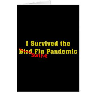 Sobreviví el pandémico de la gripe de los cerdos d tarjeta de felicitación