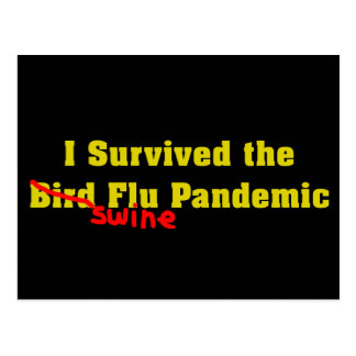 Sobreviví el pandémico de la gripe de los cerdos d tarjeta postal