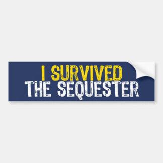 Sobreviví el secuestro pegatina de parachoque