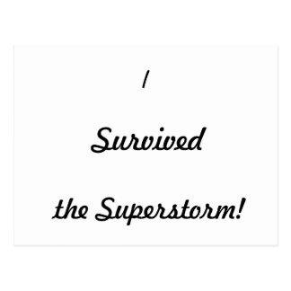 ¡Sobreviví el superstorm Postales