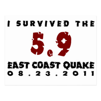Sobreviví el temblor 2011 de la costa este postal